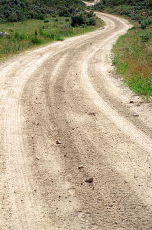 dirt road: dirt road in the country