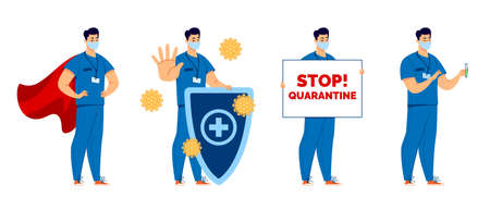 A set to draw attention to the dangers of the virus. Stop quarantine.