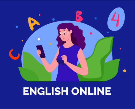 E-learning, distance learning. Modern vector illustration of educational concept for online platforms, websites, mobile applications