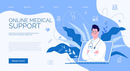 Doctor with Online Medical Consultation Concept, Medical Support. Stock fotó