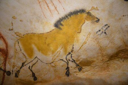 Lascaux cave prehistoric painting represent a pony. 17000 BC