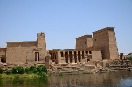 ISLAND AT THE TEMPLE OF PHILAE ASWAN