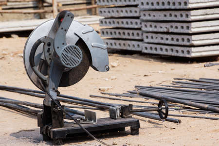 Metal cutting equipment for the construction photo