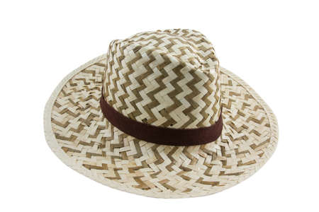 Wood hat on white background photo