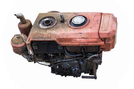 old Engine isolated photo