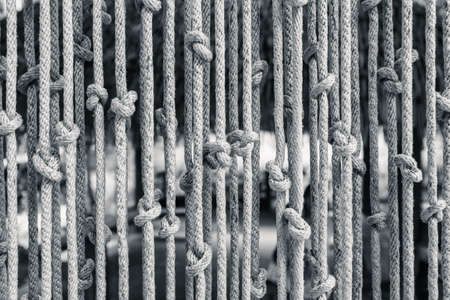 successively: Blinds made of rope Stock Photo