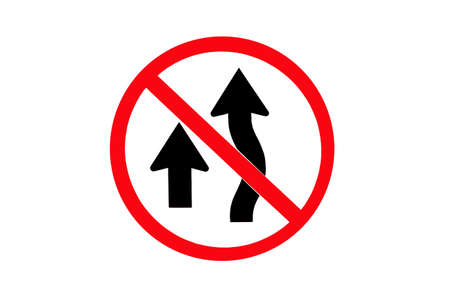 overtake: Symbol do not overtake Stock Photo