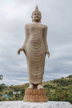 sagar: Standing Buddha at thailand Stock Photo