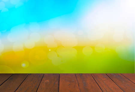 pisos de madera: colorful blur background and Wood Floor