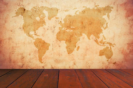ancient map: old map of the world