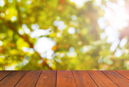 wood floor: colorful blur background and Wood Floor