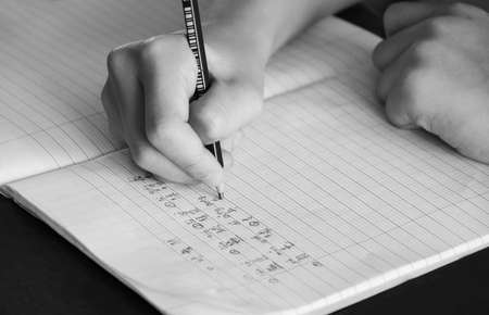 chinese characters: hand writing chinese characters.