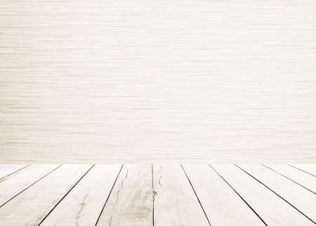 old wood floor: White old wood floor with white wood wall.