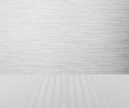 white wood floor: White wood wall and white wood floor