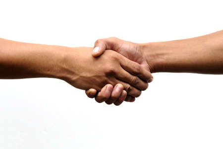 Closeup of people shaking hands  Stock Photo - 8497680
