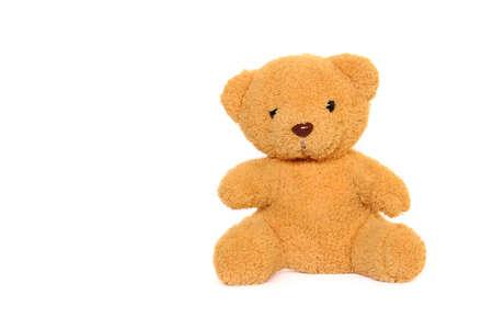 Classic teddybear isolated on white background  Stock Photo