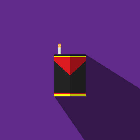 banned: The illustration is a picture of black and yellow cigarettes and   cigarettes can be used for media.