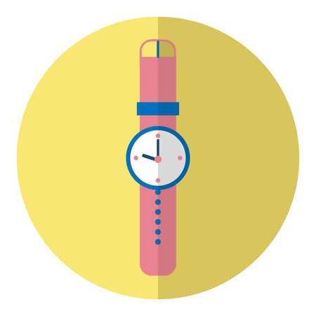 The illustration is an icon showing a clock image. Can be used   in the media.