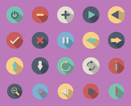 Illustrations are icons or symbols used   in business. Internet icon Can be used in various   media.