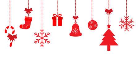 Christmas decorations illustration