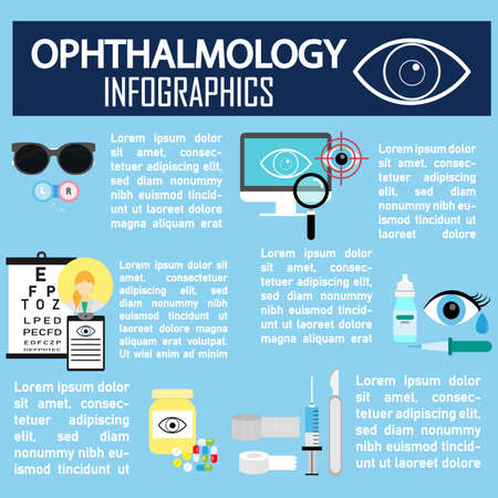 Ophthalmology and Medical info graphic design,vector Illustration
