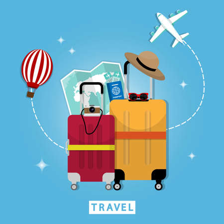 Holiday travel Must prepare travel bags,hats, sunglasses, passports, plane tickets, camera and map to travel, making it fun.Can be used as postcard Can remember tourism.