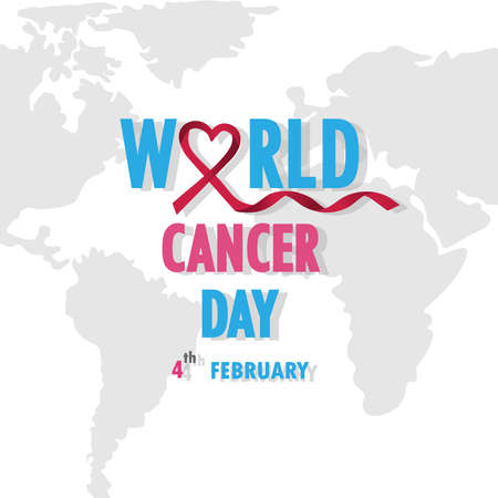 Vector illustration of anti-cancer campaign.Can be use background.