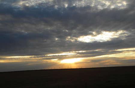 molinos de viento: molinos de viento en el horizonte