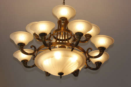 celling: The lamp upon the celling
