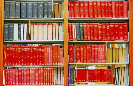 bookshelf in the library Stock Photo - 12717026