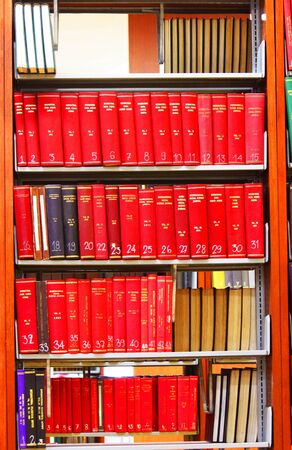 bookshelf in the library