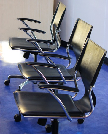 three chairs in the workplace Stock Photo - 12722342