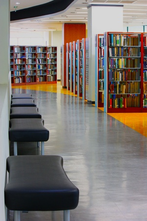 library from the corner Stock Photo - 12717009
