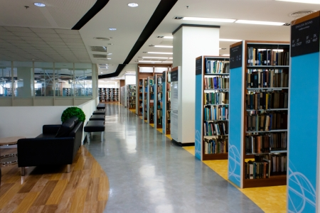 NIDA electronic library-July 2012-the new design of the library interior Stock Photo - 14720959