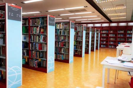 NIDA electronic library-July 2012-the bookshelfs with the books in the library