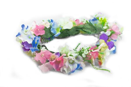 perl: fake flower crown isolate on the white background