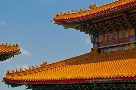 chiness: Chiness temple and blue sky