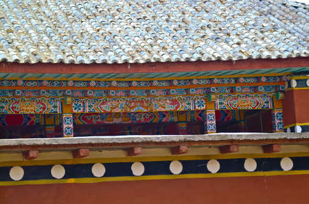 tibet: The texture of Tibet temple in china