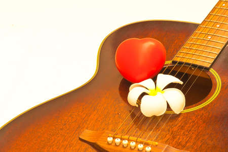 The musical of heart and flower. photo