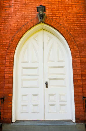 The classical door of the old church