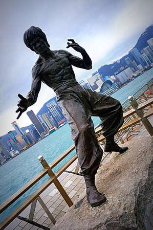 Bruce Lee statue @ Avenue of Stars, Hong Kong