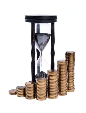 Time Is Money, conceptual studio isolated photo photo