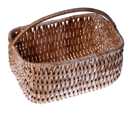 Wicker Basket, studio isolated photo photo