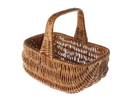 Wicker Basket, studio isolated photo photo