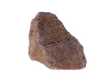Corundum. Origin: Madagascar, studio isolated photo Stock Photo