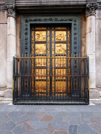 Doors of the baptistery, Florence, Italy