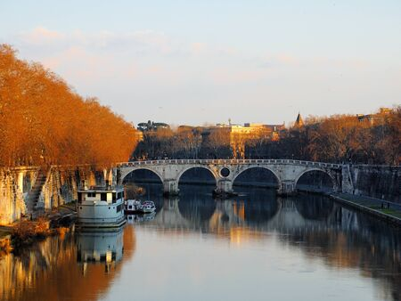 The River Tiber, Rome, Italy photo