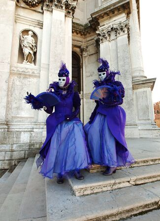 VENICE - FEBRUARY 21  An unidentified people in a carnival costume attend the end Carnival of Venice,  February 21, 2012 in Venice, Italy  Stock Photo - 13244254