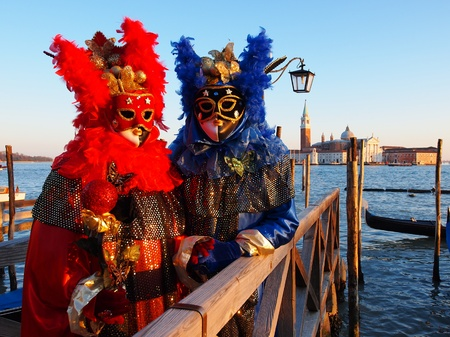 VENICE - FEBRUARY 21  An unidentified people in a carnival costume attend the end Carnival of Venice,  February 21, 2012 in Venice, Italy