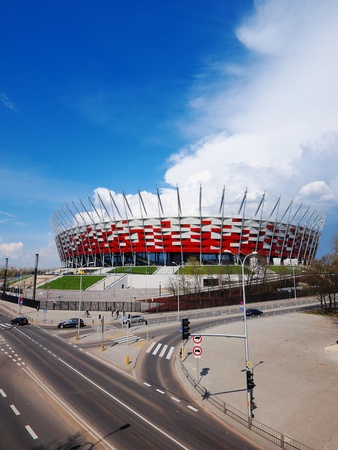 uefa: NATIONAL STADIUM IN WARSAW, POLAND - APRIL 21: Warsaw National Stadium on April 21, 2012. The National Stadium will host the opening match of the UEFA Euro 2012.